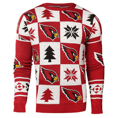 Forever Collectibles NFL Men's Arizona Cardinals 2016 Patches Ugly Sweater