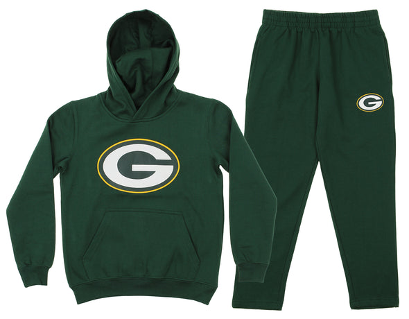 Outerstuff NFL Youth Green Bay Packers Team Fleece Hoodie and Pant Set