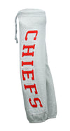 NFL Team Apparel Kansas City Chiefs Girls Heathered Fleece Pants