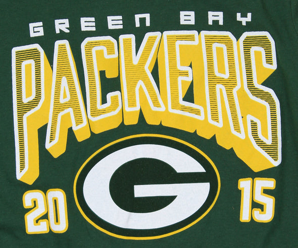 NFL Youth Green Bay Packers Long Sleeve Intinerary Front Graphics Tee, Green