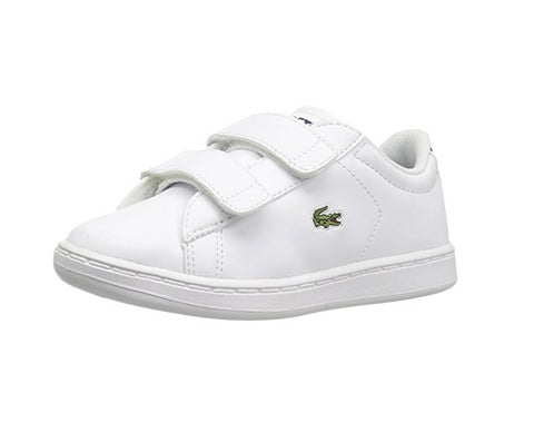 Lacoste Toddlers Carnaby Evo Bl 1 Spi Sneaker, White/Navy