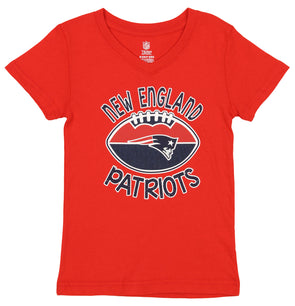 Outerstuff New England Patriots Boys Dri Fit V-Neck Football Jersey T-Shirt