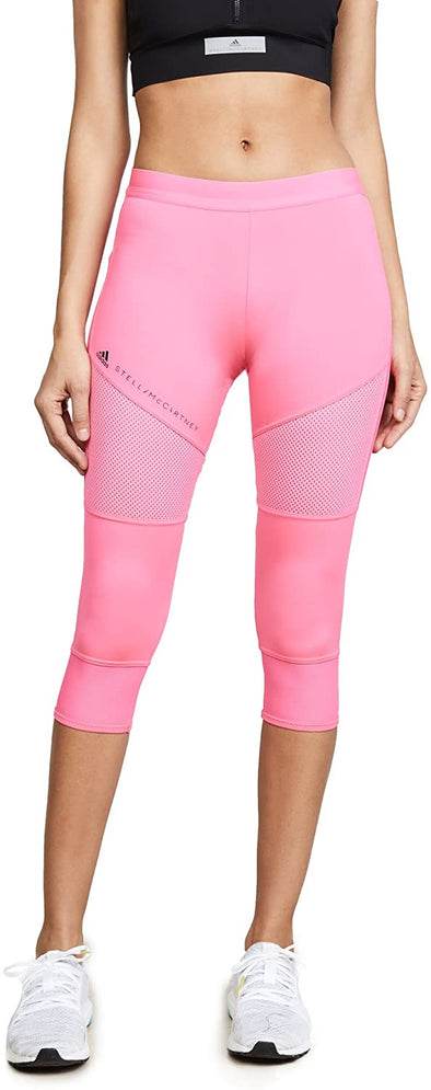 adidas by Stella McCartney Women's Performance Essentials 3/4 Tights, Solar Pink, Small