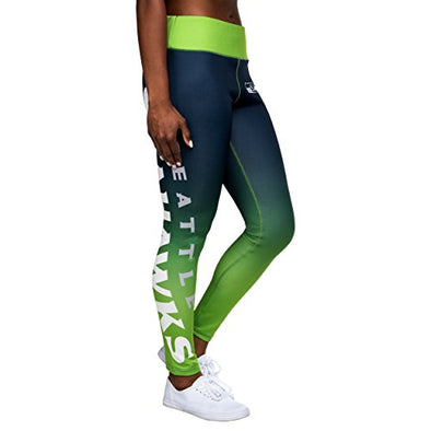 Forever Collectibles NFL Women's Seattle Seahawks Gradient 2.0 Wordmark Legging