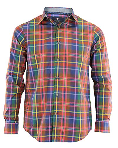 Argyle Culture Men's Button Up Multilined Shirt, Multi