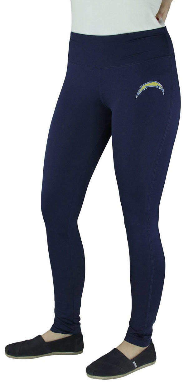 NFL Football Juniors Women's San Diego Chargers Unbreakable Tight Leggings, Navy