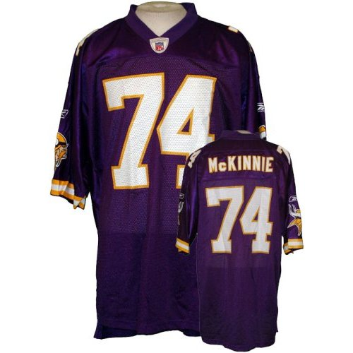 Reebok Minnesota Vikings Mens NFL Football Jersey Bryant McKinnie #74, Purple