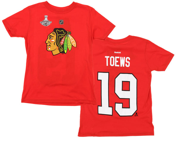 NHL Youth Chicago Blackhawks Jonathan Toews #19 Player Tee, Red