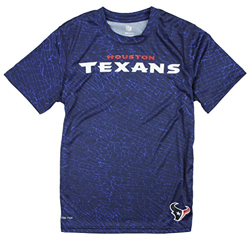 NFL Youth Boys Houston Texans Short Sleeve Printed Performance T-Shirt, Navy