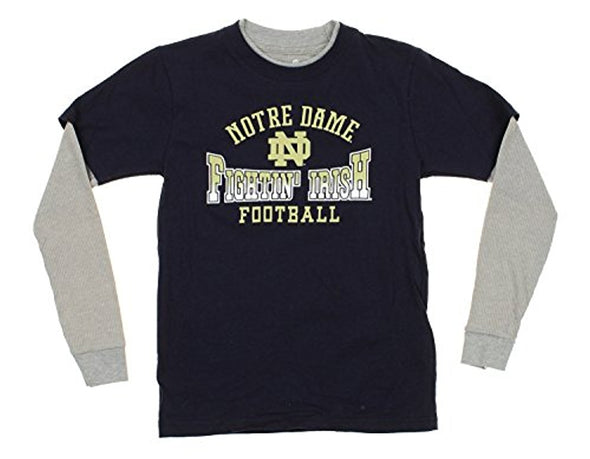 NCAA Youth Notre Dame Fighting Irish Faux Layer Long Sleeve Tee