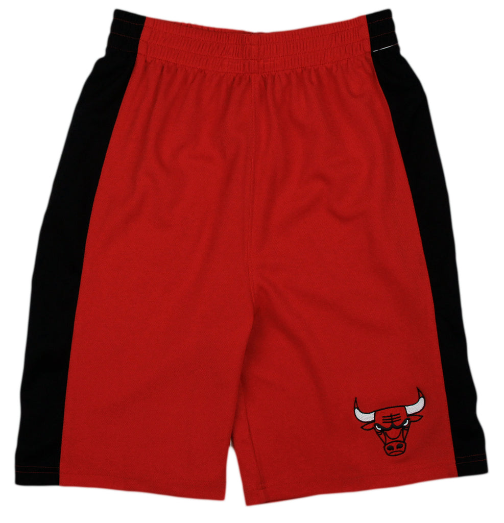 5852146f607 NBA Basketball Kids   Youth Chicago Bulls Team Shorts - Red – Fanletic