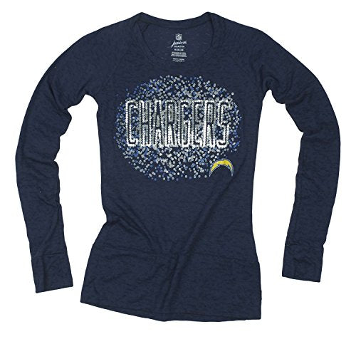 NFL Juniors San Diego Chargers Galaxy Scoop Long Sleeve Shirt, Navy