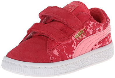 Puma Suede Speckle V Kids Toddler Sneaker Shoes - Salmon
