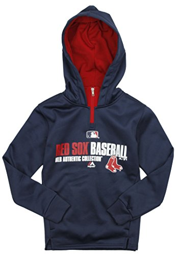 check out 45fab 7c887 Majestic MLB Baseball Youth Boston Red Sox Therma Base Performance Hoodie,  Navy