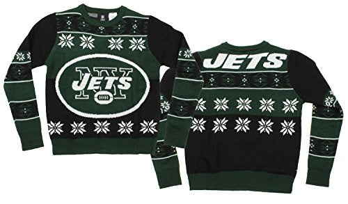 NFL Youth New York Jets Ugly Crewneck Sweater