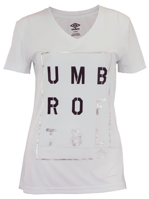 Umbro Mens Mexico Geometric Eagle Graphic Short Sleeve Tee White