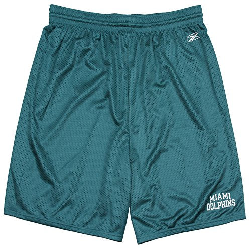 e9059ff8 Reebok NFL Football Men's Miami Dolphins Mesh Coach Athletic Shorts, Green