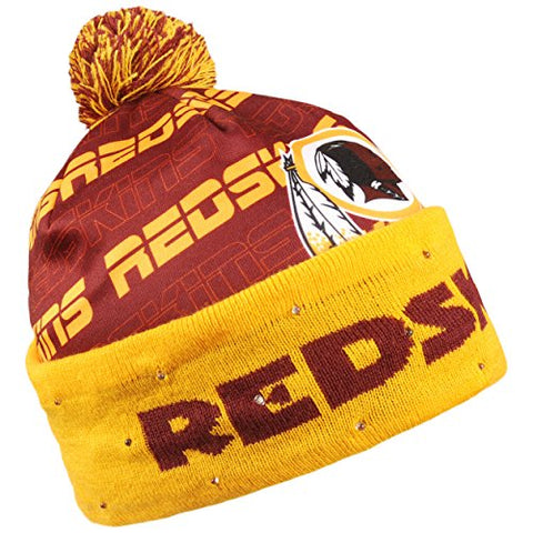 e3f358646e6 Forever Collectibles NFL Adult s Washington Redskins Light Up Printed Beanie