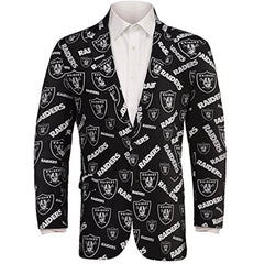 Forever Collectables NFL Men's Oakland Raiders Ugly Business Jacket, Black