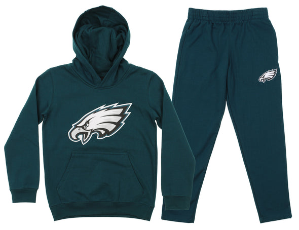 Outerstuff NFL Youth Philadelphia Eagles Team Fleece Hoodie and Pant Set