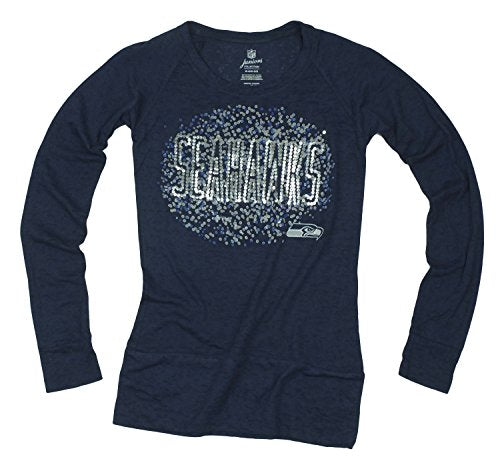 NFL Football Juniors Seattle Seahawks Galaxy Scoop Long Sleeve Shirt, Navy