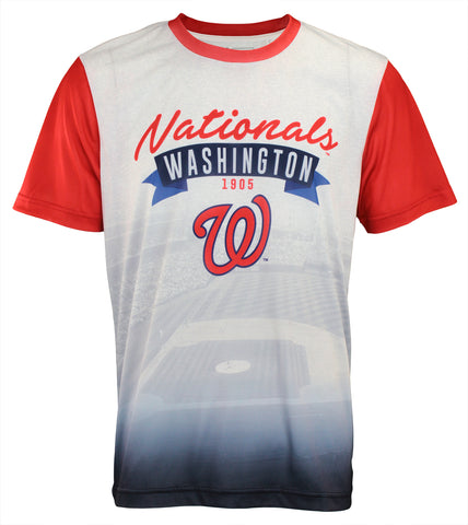 Forever Collectibles MLB Men's Washington Nationals Outfield Photo Tee