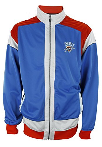 Zipway NBA Men's Big & Tall Oklahoma City Thunder Walt Full Zip Jacket, Blue