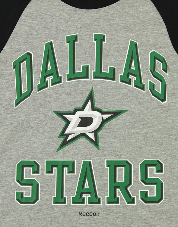 Reebok NHL Youth Dallas Stars Long Sleeve Raglan Tee, Grey
