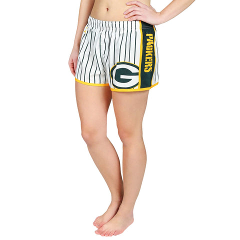 Forever Collectibles NFL Women's Green Bay Packers Pinstripe Shorts