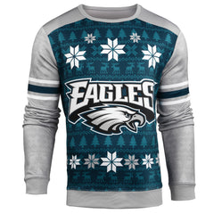 Forever Collectibles NFL Men's Philadelphia Eagles Printed Ugly Sweater