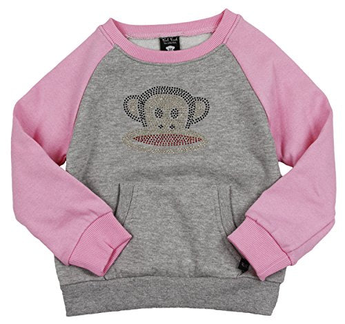 Paul Frank Infant Girl's Rhinestone Julius Raglan Pull Over Sweatshirt, 2 Colors