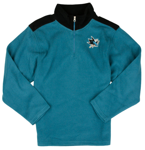 NHL Hockey Kids / Youth San Jose Sharks Fleece Jacket - Teal