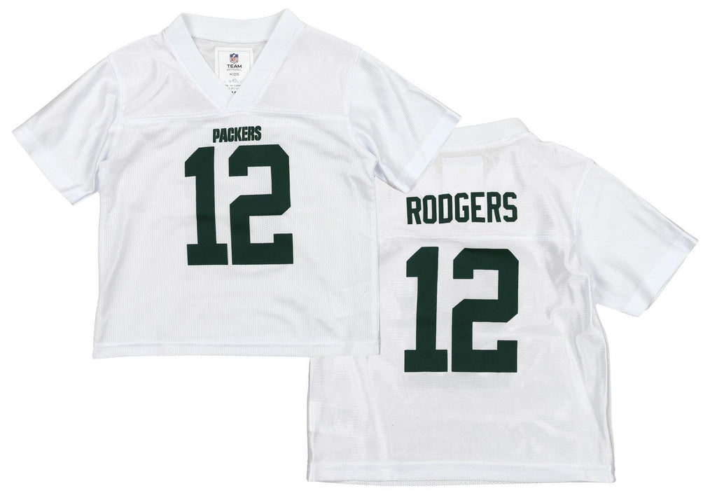 a6dc9a72 OuterStuff NFL Girls Toddlers Green Bay Packers Aaron Rodgers #12 Dazzle  Jersey, White