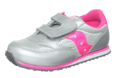Saucony Toddler Baby Jazz Sneaker,Silver/Pink