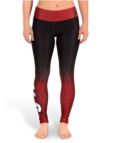 NCAA Women's South Carolina Fighting Gamecocks Gradient Print Leggings, Black