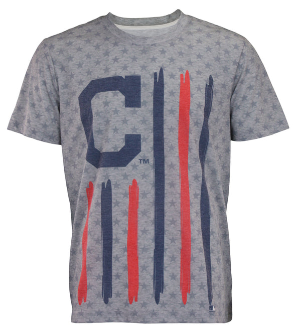 Forever Collectibles MLB Men's Cleveland Indians Big Logo Flag Tee
