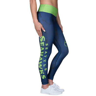 Forever Collectibles NFL Women's Seattle Seahawks Marble Wordmark Leggings