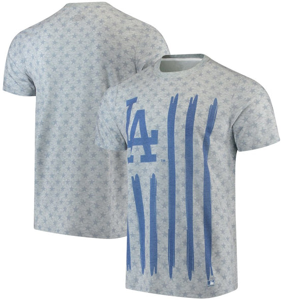Forever Collectibles MLB Men's Los Angeles Dodgers Big Logo Flag Tee