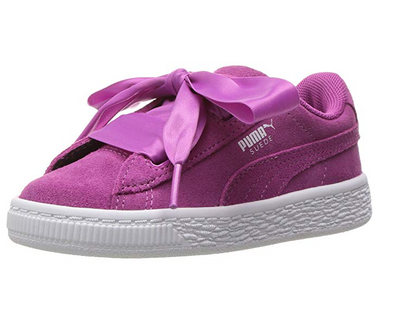 PUMA Kids' Suede Heart Sneakers, Rose Violet