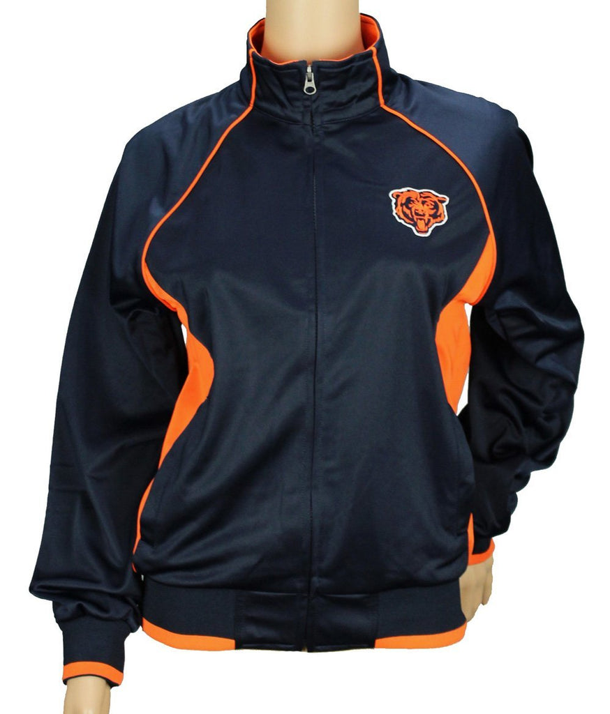online store f318e 2f453 Chicago Bears NFL Womens Players Zip Up Jacket