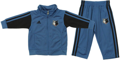 Adidas NBA Infants Minnesota Timberwolves Full Court Track Set, Blue