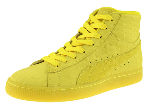Puma Men's Suede ME Iced Mid Fashion Sneakers, Buttercup