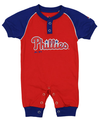 """Majestic MLB Infant Los Angeles Angels /""""Game Time/"""" Coverall"""
