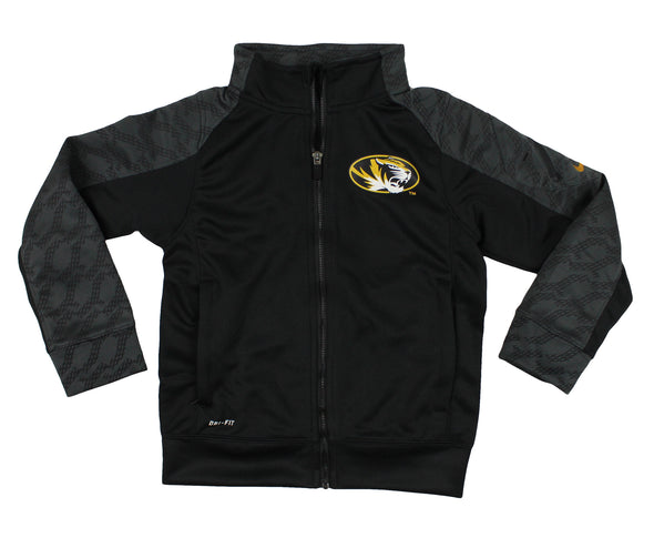Nike NCAA Youth Missouri Tigers Fly Speed Full Zip Performance Jacket, Black