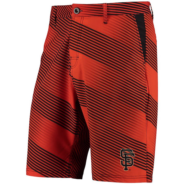 Forever Collectibles MLB Men San Francisco Giants Diagonal Stripe Walking Shorts