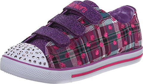 Skechers Kids / Youth Girls Chit Chat Prepster Lights Light Up Shoes - Purple