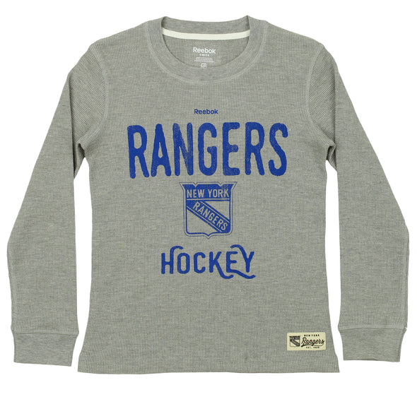 Reebok NHL Youth New York Rangers Paradigm Long Sleeve Thermal Crew