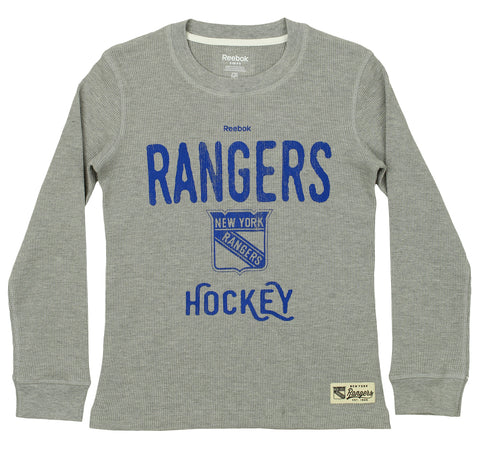 Reebok NHL Youth New York Rangers Paradigm Long Sleeve Thermal Crew 9fbe63432