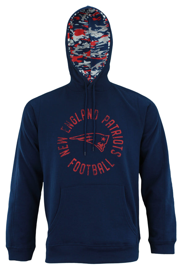 Zubaz NFL Men's New England Patriots Camo Lined Pullover Hoodie