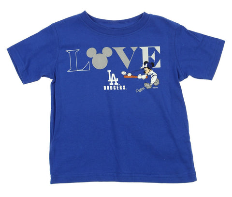 Majestic MLB Toddlers Los Angeles Dodgers Minnie Mouse Love Team Tee